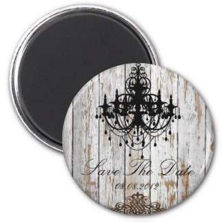 rustic country barn wood bohemian wedding 6 cm round magnet
