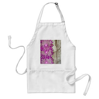 Rustic Country Barn Wood Pink Purple Flowers Apron