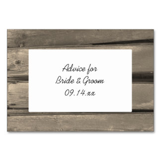 Rustic Country Barn Wood Wedding Advice Cards