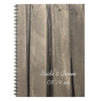 Rustic Country Barn Wood Wedding Notebooks
