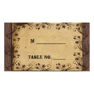 Rustic Country Barn Wood Wedding Place Cards Business Card Template