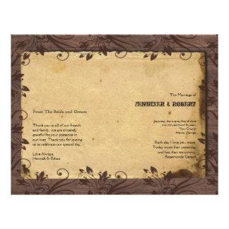 Rustic Country Barn Wood Wedding Program 21.5 Cm X 28 Cm Flyer
