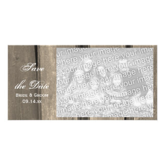 Rustic Country Barn Wood Wedding Save the Date Card