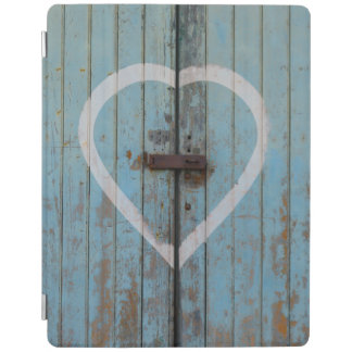 Rustic Country Blue Barn Door Heart iPad Cover