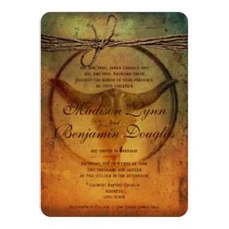 Rustic Country Bull Horns Wedding Invitations