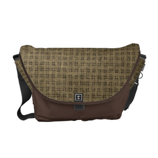 Rustic Country Burlap Courier Bag