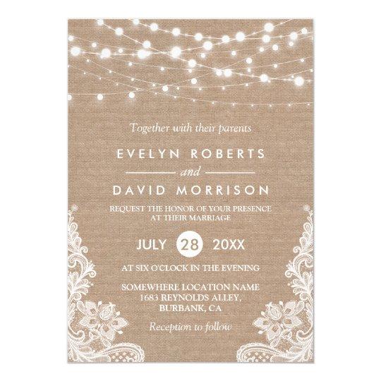 Vintage brown paper wedding invites