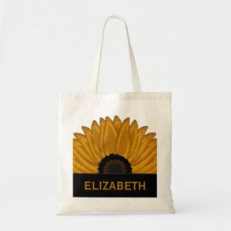 .Rustic Country Burlap Sunflower Wedding Favors Budget Tote Bag
