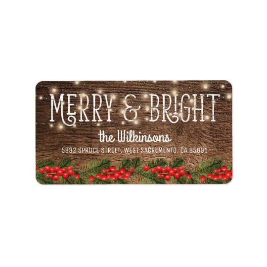 Rustic Country Christmas Holiday Address Label