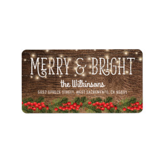 Rustic Country Christmas Holiday Label