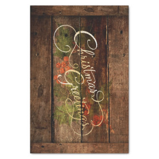 Rustic Country Christmas Tissue Paper