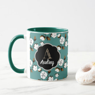 Rustic Country Cotton Flowers Mug