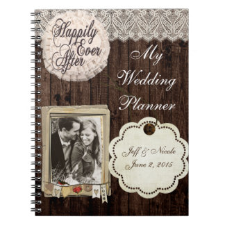 Rustic Country Couple Wedding Planner Notebook