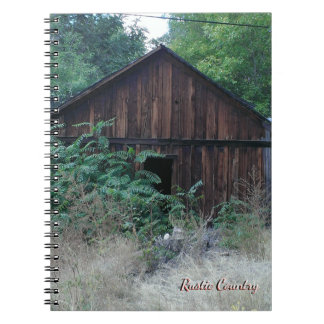 Rustic Country Design Spiral Notebook