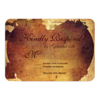 """Rustic Country Distressed Heart Wedding RSVP Cards 3.5"""" X 5"""" Invitation Card"""