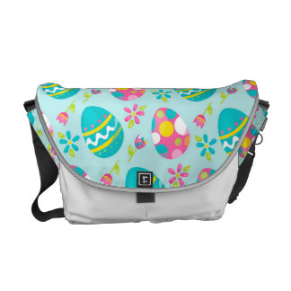 Rustic Country Easter Bunny Holiday Spring Messenger Bag
