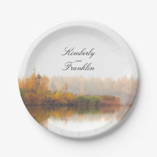 Rustic Country Fall Wedding 7 Inch Paper Plate