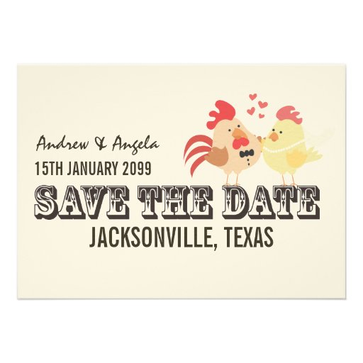 Rustic Country Farm Wedding Save the Date Announcements