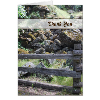 Rustic Country Fence Thank You Card
