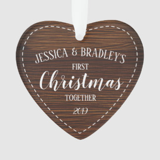 Rustic Country First Christmas Together Ornament