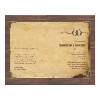 Rustic Country Horseshoes Wedding Program 21.5 Cm X 28 Cm Flyer