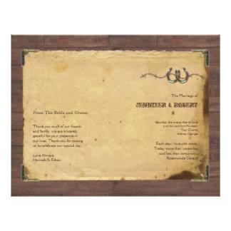 Rustic Country Horseshoes Wedding Program 21.5 Cm X 28 Cm Flyer