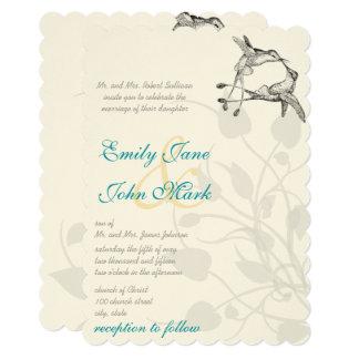 Rustic Country Hummingbird Kiss Love Bird Wedding Card