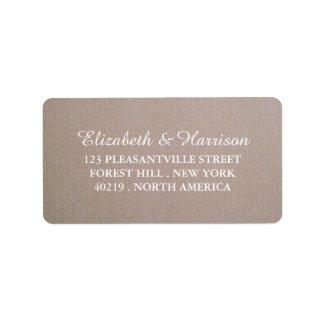 Rustic Country Kraft Wedding Address Label