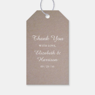 Rustic Country Kraft Wedding Thank You Favor