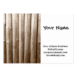 Rustic Country Log Cabin Distressed Vintage Wood Business Cards