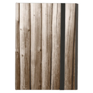 Rustic Country Log Cabin Distressed Vintage Wood Cover For iPad Air