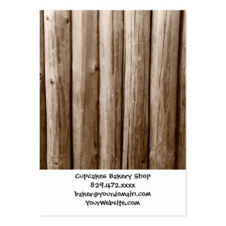 Rustic Country Log Cabin Distressed Vintage Wood Pack Of Chubby Business Cards