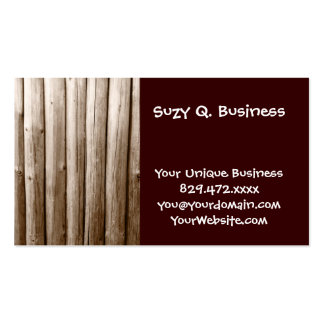 Rustic Country Log Cabin Distressed Vintage Wood Pack Of Standard Business Cards