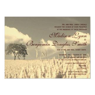 Rustic Country Lone Tree Wedding Invitations