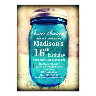 Rustic Country Mason Jar Birthday Invitation