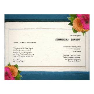 Rustic Country Painted Wood Wedding Program 21.5 Cm X 28 Cm Flyer