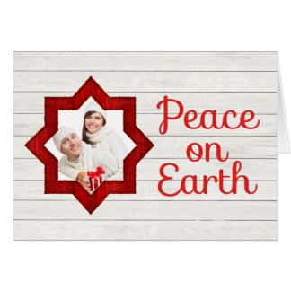 Rustic Country Photo Christmas Card