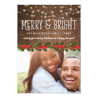 Rustic Country Photo Christmas Holiday 13 Cm X 18 Cm Invitation Card