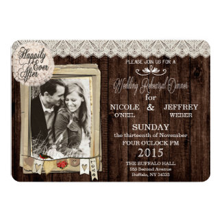 Rustic Country Photo Wedding Rehearsal Dinner Card