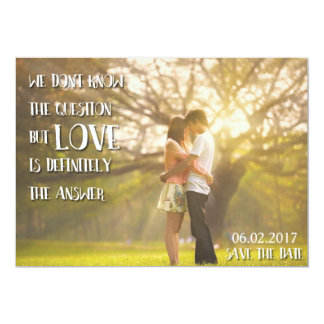 Rustic Country Save the Date invitation quote
