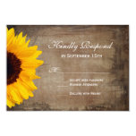 Rustic Country Sunflower Wedding RSVP Cards Personalized Invitation