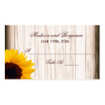 Rustic Country Sunflower Wood Wedding Place Cards Pack Of Standard Business Cards