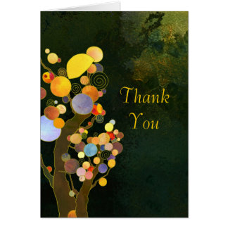 Rustic Country Trees Wedding Thank You Note Card