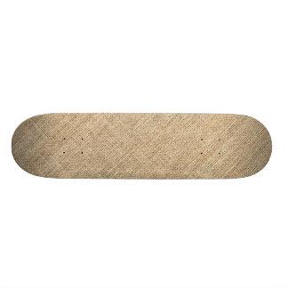 Rustic Country Vintage Burlap 20.6 Cm Skateboard Deck