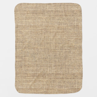 Rustic Country Vintage Burlap Baby Blanket