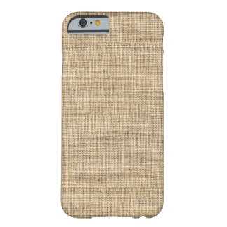 Rustic Country Vintage Burlap Barely There iPhone 6 Case
