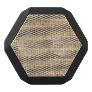 Rustic Country Vintage Burlap Black Bluetooth Speaker