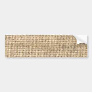 Rustic Country Vintage Burlap Bumper Sticker