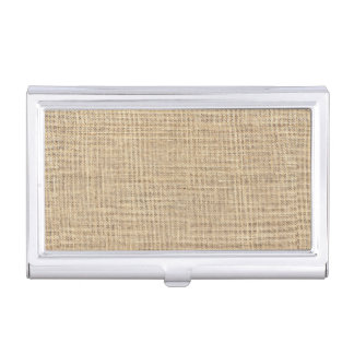 Rustic Country Vintage Burlap Business Card Holder