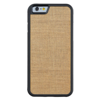 Rustic Country Vintage Burlap Carved Maple iPhone 6 Bumper Case